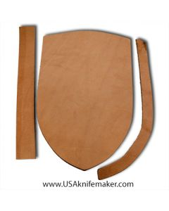 "Sheath Kit #3 - Leather - for knives with blades up to 1 3/4"" wide by 7 1/4"" long"