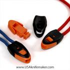 End Cord Lock Whistle Orange Insert use w/ Para cord